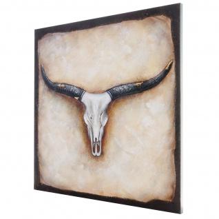 Ölgemälde Stier, 100% handgemalt, 100x100cm - Vorschau 4