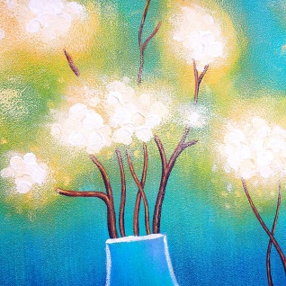 Ölgemälde Vasen, 100% handgemaltes Wandbild Gemälde XL, 135x70cm - Vorschau 5