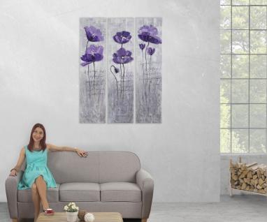 Ölgemälde Lila Blumen, 100% handgemaltes Wandbild XL, 120x90cm - Vorschau 5