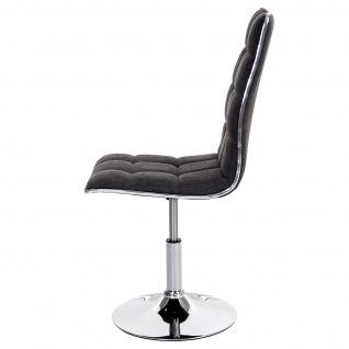 6x Esszimmerstuhl HWC-C41, Stuhl Küchenstuhl, Stoff/Textil hellgrau - Vorschau 5