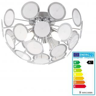 Trio LED-Deckenlampe, Deckenleuchte, EEK A++, 9W-LED, Ø=45cm, Chrom mit Kunststoff klar/satiniert