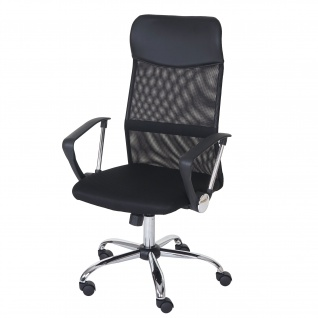 Bürostuhl Oslo, Drehstuhl Schreibtischstuhl, Kunstleder Textil schwarz