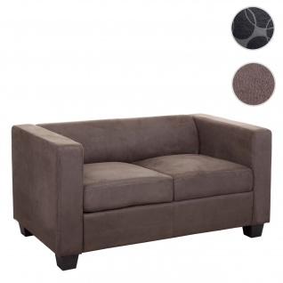 2er Sofa Couch Loungesofa Lille, Stoff/Textil vintage dunkelbraun