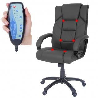 Massage-Bürostuhl Stafford, Massagestuhl Drehstuhl Chefsessel, Kunstleder schwarz