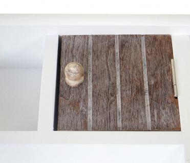 Schlüsselbrett HWC-A48, Schlüsselkasten Schlüsselboard mit Türen, Massiv-Holz ~ shabby braun-weiß - Vorschau 5