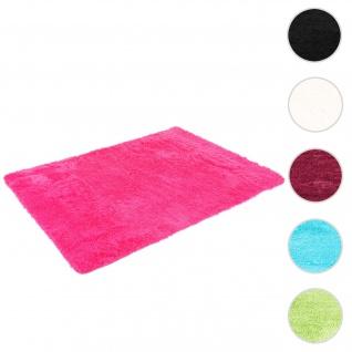 Teppich HWC-F69, Shaggy Läufer Hochflor Langflor, Stoff/Textil flauschig weich 160x120cm ~ pink