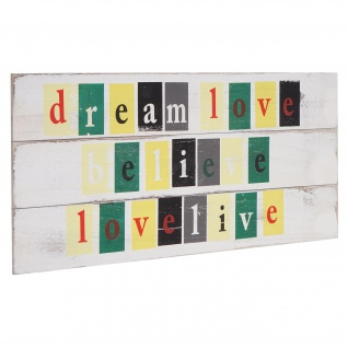 Wandschild Love-Life, Holzschild, Shabby-Look 30x60cm