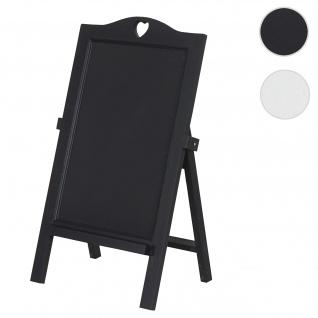 Werbetafel HWC-E51, Aufsteller Kreidetafel Kundenstopper Dekotafel, 66x39x33cm schwarz lackiert