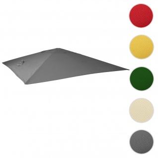 Bezug für Luxus-Ampelschirm HWC-A96, Sonnenschirmbezug Ersatzbezug, 3x4m (Ø5m) Polyester 3, 5kg ~ anthrazit
