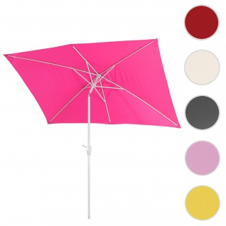 Sonnenschirm N23, Gartenschirm, 2x3m rechteckig neigbar, Polyester/Alu 4, 5kg ~ pink