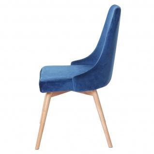 6x Esszimmerstuhl HWC-B44, Stuhl Küchenstuhl, Retro 50er Jahre Design Samt - Vorschau 4