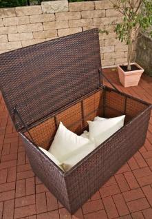 Auflagenbox, Kissenbox, Gartentruhe ~ schwarz - Vorschau 2