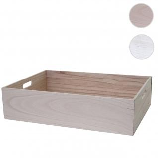 Holzbox HWC-C20, Dekokiste Aufbewahrung Holzkiste, Shabby-Look Vintage ~ 60x40x15cm, naturbraun