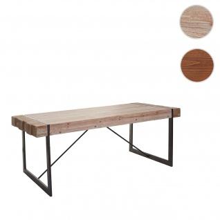 Esszimmertisch HWC-A15, Esstisch Tisch, Tanne Holz rustikal massiv ~ naturfarben 80x160x90cm