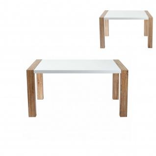 Esstisch HWC-D75, Esszimmertisch Tisch, Tischplatte hochglanz, Holzoptik 120x80x75 cm
