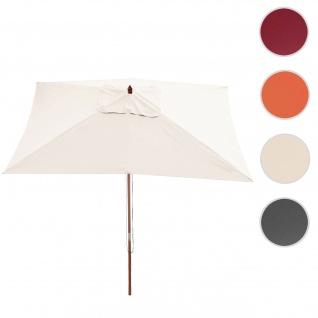 Sonnenschirm Florida, Gartenschirm Marktschirm, 2x3m Polyester/Holz 6kg ~ creme