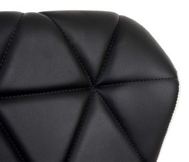 2x Barhocker HWC-A92, Barstuhl Tresenhocker, höhenverstellbar Kunstleder ~ schwarz - Vorschau 3