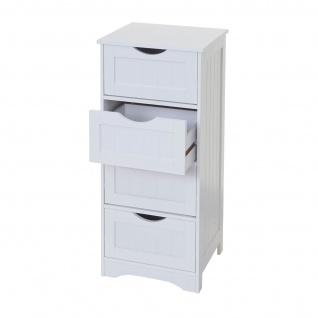 Kommode HWC-B65, Schubladenschrank Schrank, 4 Schubladen 80x30x26cm ~ weiß - Vorschau 4