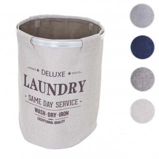 Wäschesammler HWC-C34, Laundry Wäschekorb Wäschebox Wäschesack Wäschebehälter mit Netz, 55x39cm 65l ~ beige