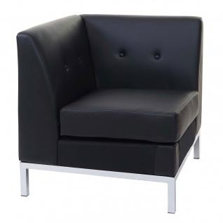 Sessel HWC-C19, Modular-Sofa Eckteil ohne Armlehnen, erweiterbar Kunstleder schwarz