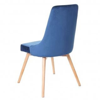 6x Esszimmerstuhl HWC-B44, Stuhl Küchenstuhl, Retro 50er Jahre Design Samt - Vorschau 3