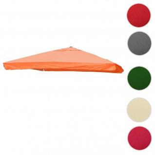 Bezug für Luxus-Ampelschirm HWC-A96 mit Flap, Sonnenschirmbezug Ersatzbezug, 3x3m (Ø4, 24m) Polyester 3kg ~ terrakotta