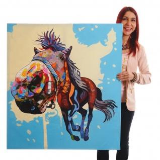Ölgemälde Pferd, 100% handgemaltes Wandbild XL, 100x90cm
