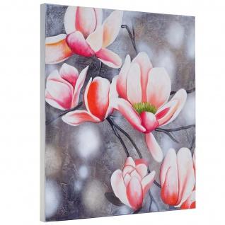 Ölgemälde Blumenzweig, 100% handgemaltes Wandbild Gemälde XL, 90x90cm - Vorschau 3