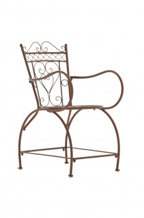Gartenstuhl CP333, Bistrostuhl Stuhl, Metall ~ antik-braun