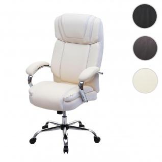 XXL Bürostuhl HWC-H94, Drehstuhl Schreibtischstuhl Chefsessel, 220kg belastbar Federkern Kunstleder ~ ceme-beige