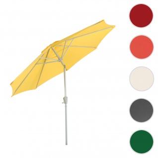 Sonnenschirm N18, Gartenschirm, Ø 2, 7m neigbar Polyester/Alu 5kg ~ gelb
