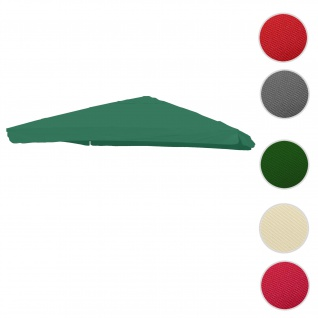 Bezug für Luxus-Ampelschirm HWC-A96 mit Flap, Sonnenschirmbezug Ersatzbezug, 3x4m (Ø5m) Polyester 4kg ~ dunkelgrün