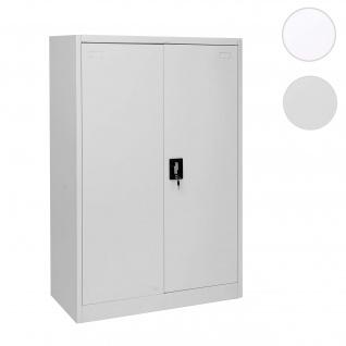 Aktenschrank HWC-H17, Stahlschrank Büroschrank, 2 Türen ~ 140x90cm grau