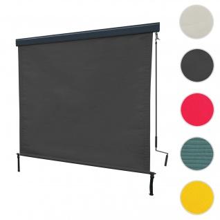 Vertikalmarkise HWC-F42, Senkrechtmarkise Sichtschutz Außenrollo Rollo, UV-Schutz 50 Stoff ~ 250x180cm, anthrazit