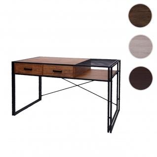 Schreibtisch HWC-H91, Bürotisch Computertisch, Industrial 76x120x70cm ~ braun