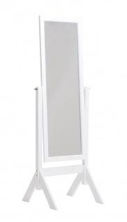 Standspiegel CP545, Ankleidespiegel Spiegel, Holz ~ weiß