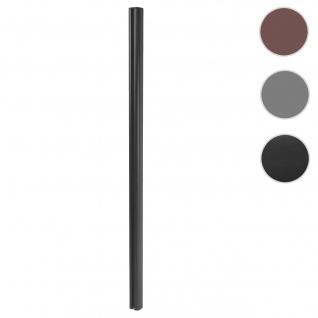 Alu-Pfosten Sarthe-WPC-Zaun, Pfeiler Pfahl, Stecksystem 1, 86m ~ anthrazit