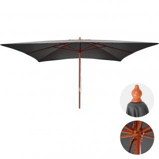 Sonnenschirm Florida, Gartenschirm Marktschirm, 3x4m Polyester/Holz 6kg - Vorschau 4