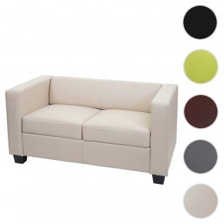 2er Sofa Couch Loungesofa Lille ~ Kunstleder, creme