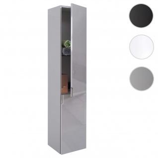 Hängeschrank HWC-B19, Midischrank Hochschrank Badezimmer Badmöbel, hochglanz 150x30cm ~ grau