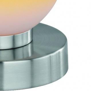 Tischleuchte Dimmer ~ Nickel matt, Glas opal orange - Vorschau 4