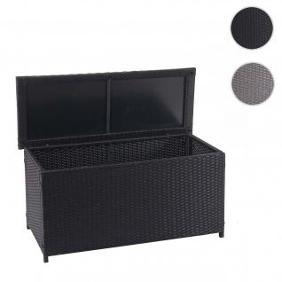 Poly-Rattan Kissenbox HWC-D88, Gartentruhe Auflagenbox Truhe ~ Basic schwarz, 63x135x52cm 320l