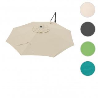 Bezug für Ampelschirm HWC-A39, Sonnenschirmbezug Ersatzbezug, Ø 3, 5m Polyester 250g/m² ~ creme