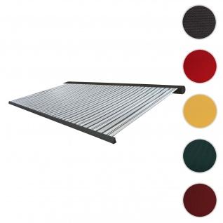 Bezug für Markise T122, Vollkassette Ersatzbezug Sonnenschutz 4x3m ~ Polyster grau-weiß