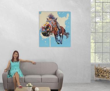 Ölgemälde Pferd, 100% handgemaltes Wandbild XL, 100x90cm - Vorschau 5
