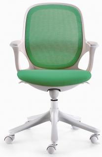 Bürostuhl A057, Chefsessel Drehstuhl, Textil, Kabelmechanik grün