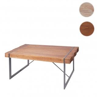 Esszimmertisch HWC-A15, Esstisch Tisch, Tanne Holz rustikal massiv ~ braun 80x160x90cm