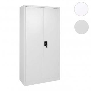 Aktenschrank HWC-H17, Stahlschrank Büroschrank, 2 Türen ~ 185x90cm grau