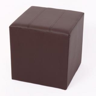 Sitzhocker Paris Sitzwürfel Hocker, Kunstleder, 40x38x38 cm braun