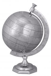 Deko Weltkugel A149, Globus, Aluminium, 35x22x22cm - Vorschau 1